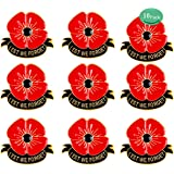 Details about  /Hair Clip Pin Barrette Stick Red Poppy Memorial Remembrance Day Veteran/'s Day