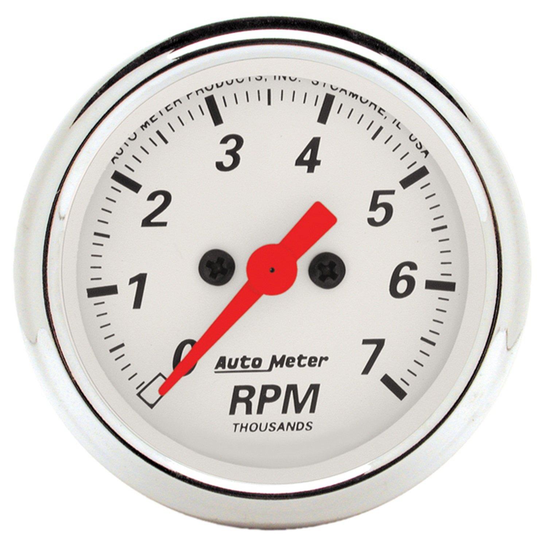 Auto Meter 1397 Arctic White 2-1/16-Inch 7000 RPM Tachometer