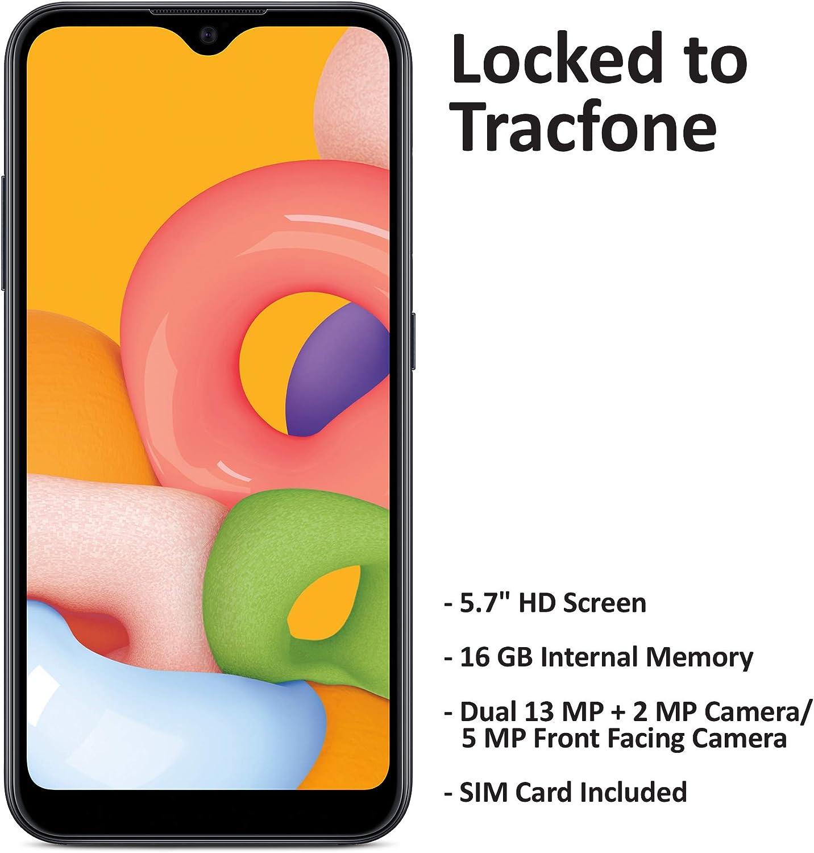 Tracfone Samsung Galaxy A01 4G LTE Prepaid Smartphone - Black - 16GB - Sim Card Included -CDMA, Model Number: TFSAS111DCP