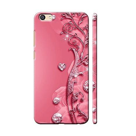 the latest 2e3a6 707f6 Clapcart Vivo V5 Plus Designer Printed Back Cover for Vivo V5 Plus - Pink  Color (Heart Design for Girls)