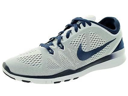 Nike Free 5.0 TR Fit 5 Women's Cross Training Shoes, WhiteMidnight Navy (7 B(M) US)
