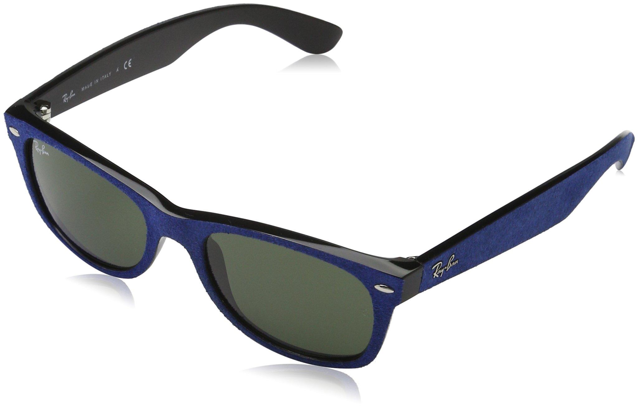 Ray-Ban Women's New Wayfarer Square Sunglasses, Black-Blue, 52 mm