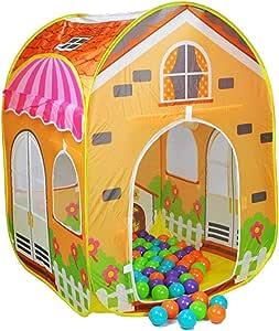 خيمة أطفال شكل فيلا مع 100 كرات ملونة