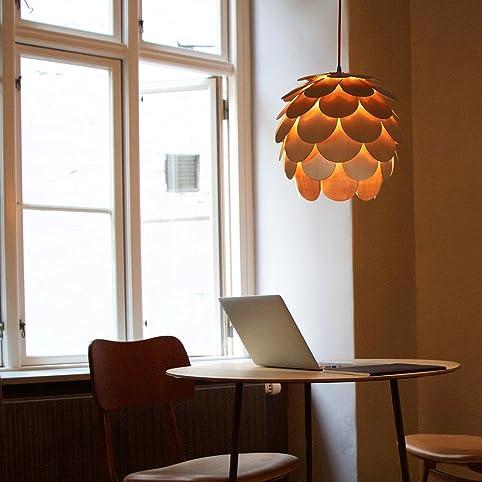 HROOME Modern Holz Kunst Deckenbeleuchtung DIY Puzzle Lampe Kamelie Hangende Lampenschirm Leuchter Fur Wohnzimmer Restaurant Hotel