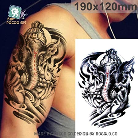 tzxdbh 3 Unids-Negro Ecológico Tatuaje Temporal Cráneo Temporal ...