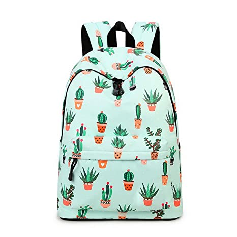 Amazon.com  Teecho Waterproof Cute Backpack for Girl Casual Print ... 19fbb68776096