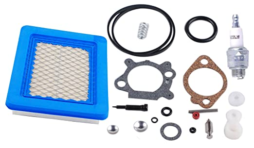 Podoy 498260 carburador Kit de revisión 491588 Filtro de aire con ...
