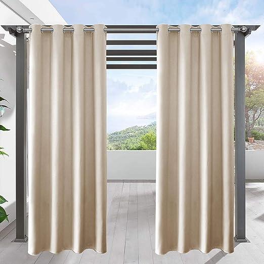 Lifonder - Cortina opaca de pérgola para interiores/exteriores, cortina de privacidad con aislamiento térmico para decoración