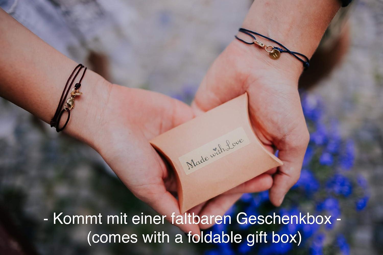 Handmade N Partnerarmb/änder Armband mit Buchstabe Freundschaftsarmband f/ür 2 Geschenk f/ür Paare mit Karabinerhaken