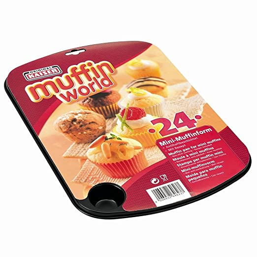 265 opinioni per Kaiser Muffin World 646237 Stampo per 24 mini Muffin, 38x27 cm