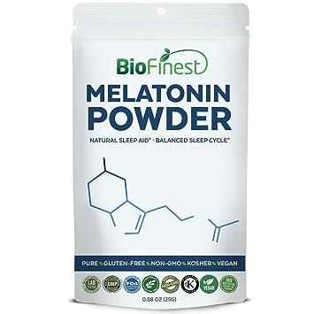 Biofinest Melatonin Powder 1mg/3mg/5mg/10mg - Fast Dissolve Quick Release -
