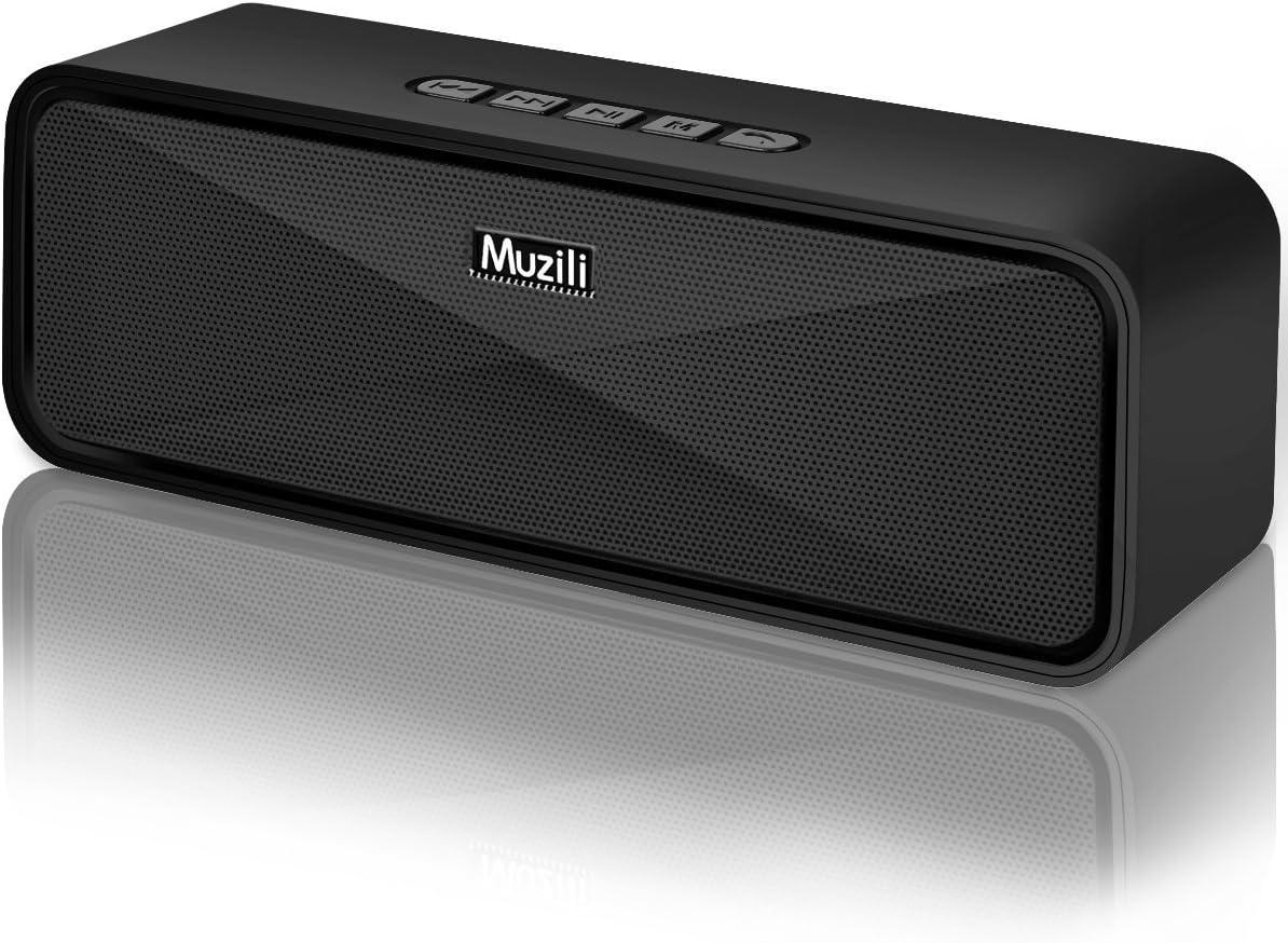 Arbily Bluetooth ワイヤレス スピーカー ブルートゥース, 重低音とデザイン性に優れた, デュアルドライバー マイク搭載 高音質, TFカード(microSD)スロット&USBポート&Auxポート対応