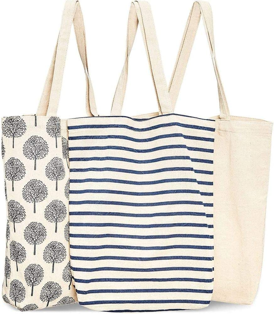 Canvas Shopping Bag Tote Reversible Shopping Bag Market Bag Reusable Shopping Bag Beach Bag Cotton Shopping Bag Washable Grocery Bag