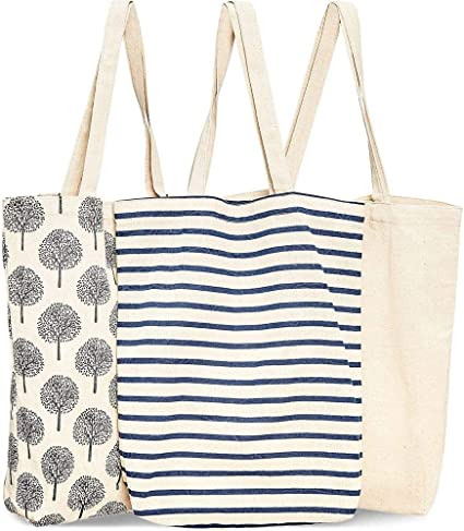 The Eyelet Elephant Tote reusable Grocery Sack