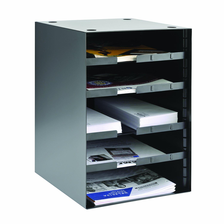 Steelmaster Organizer with 4 Adjustable Shelves, 5-Tier, 11.22 x 19.62 x 12.01-Inch, Black (206511004) MMF Industries