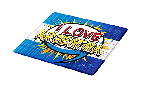 Amazon.com: Lunarable Argentina Cutting Board, Comic Book ...