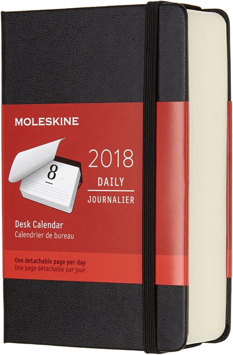 Moleskine 2018 Calendario Giornaliero Da Tavolo, 12 Mesi, Tascabile