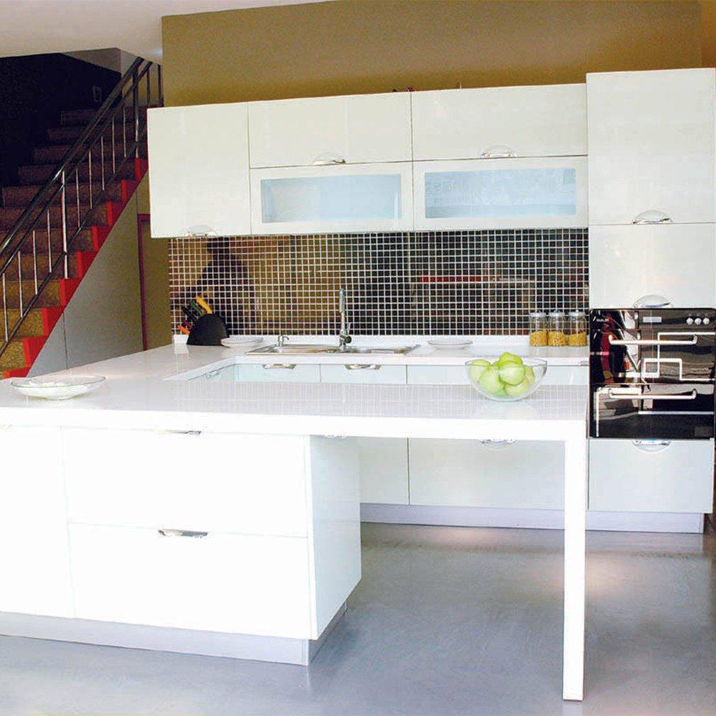 KINLO 5x0.61 M PVC Küchenschrank-Aufkleber Selbstklebend ...