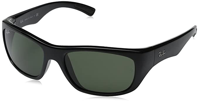 f0b5a07a3f3 Ray Ban Sunglasses RB4177 601 58 Black Acetate with Green Lens  Ray Ban   Amazon.co.uk  Clothing