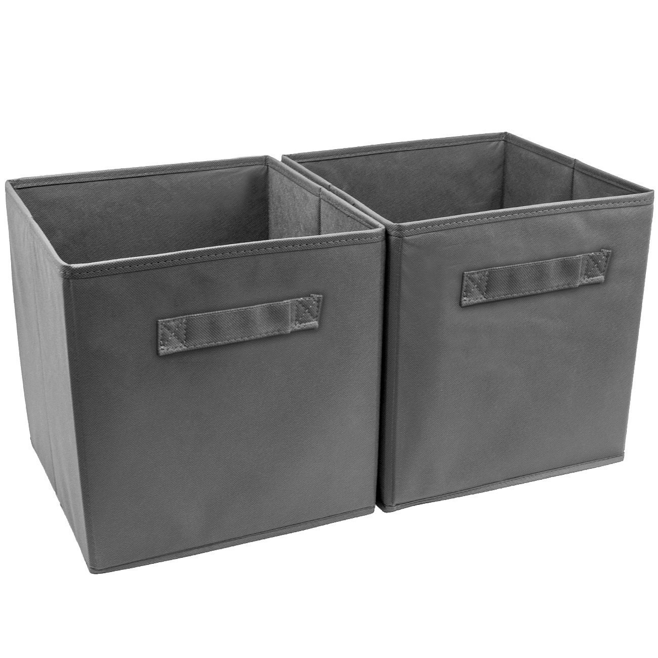 Wtape Practical Foldable Cube Storage Bins, 2-Pack Fabric Drawers, Gray