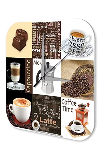 Amazon.de: Wanduhr Restaurant Küchen Deko Marke Kaffee Cappuccino ...