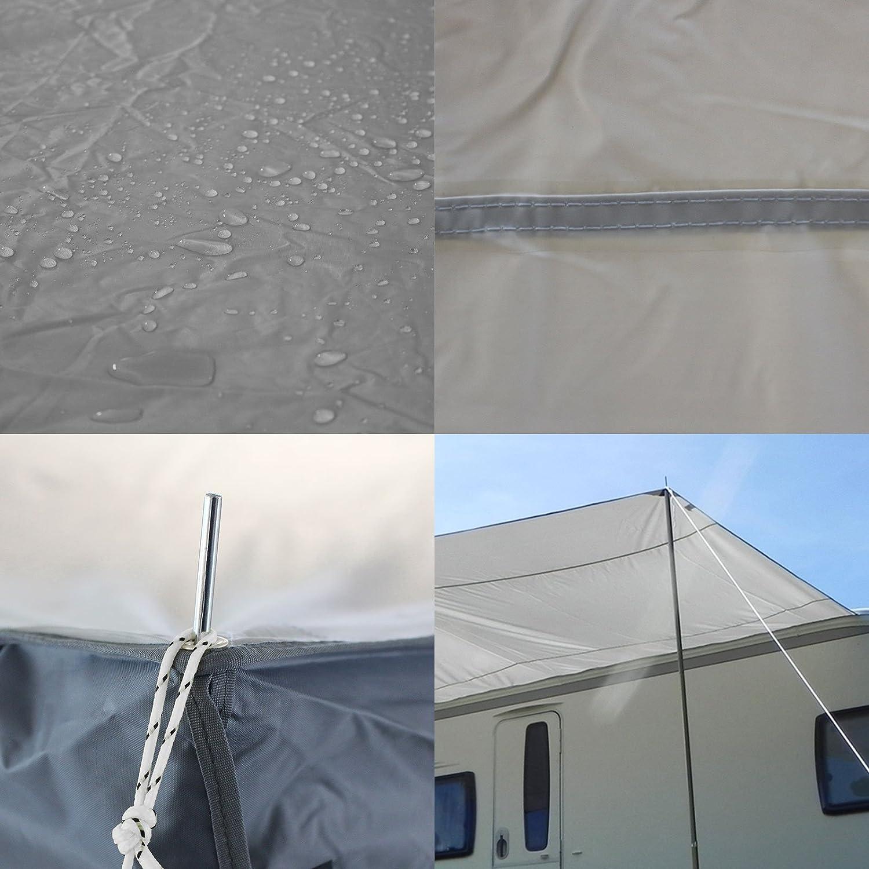 camping cars et bus piquets 260 x 240/cm Auvent pare-soleil /«/Sunny 260//» pour bandes de tuyauteries 7/mm linge pour caravanes incluant poteaux
