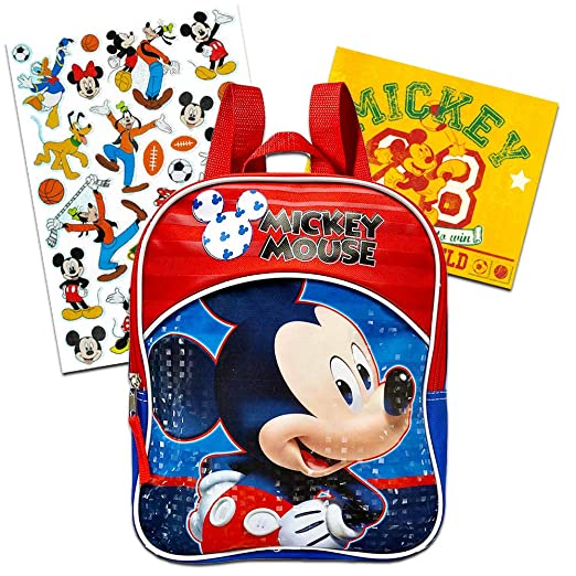 Image Unavailable. Image not available for. Color  Disney Mickey Mouse  Toddler Preschool Mini Backpack (Mickey Mouse School ... 012f815e20cab