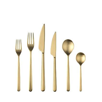 Mepra 108122020 - Juego de cubertería, color dorado