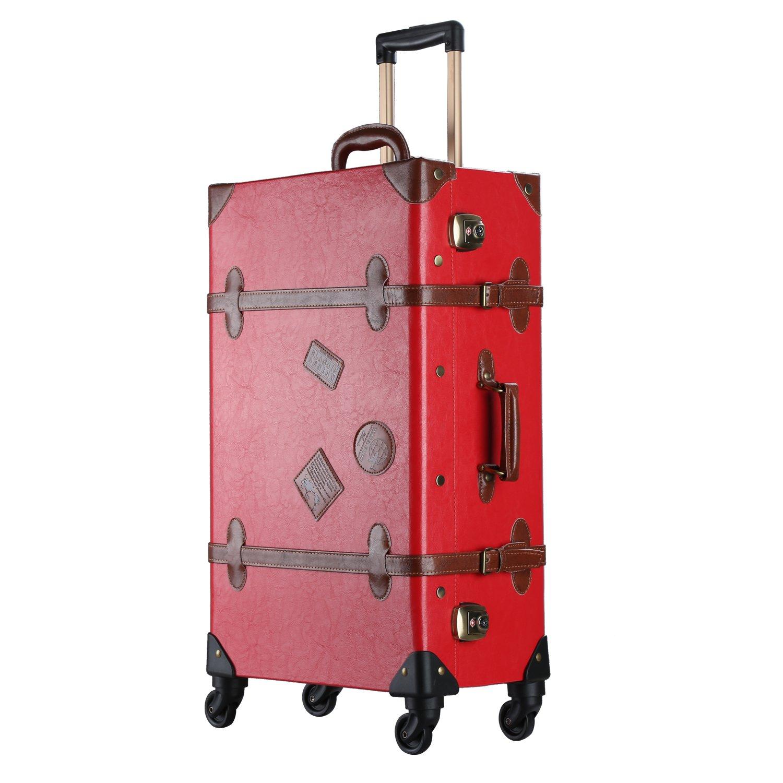 スーツケース キャリーケース トランクケース キャリ ーバック 静音四輪キャスター TSAロック搭載 超軽量 低振動 機 内持込可(赤) XL (26)型 レッド B06Y411CRH