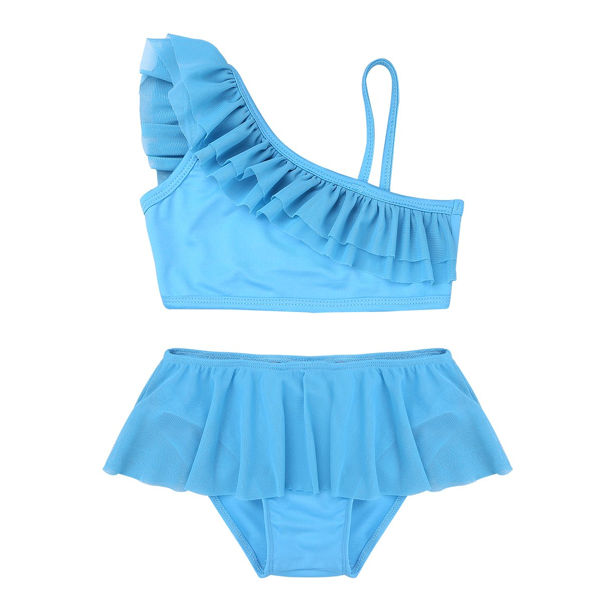 CHICTRY Little Girls Toddlers Flounce Ruffle Two Piece Tankini Swimsuit Swimwear Sets