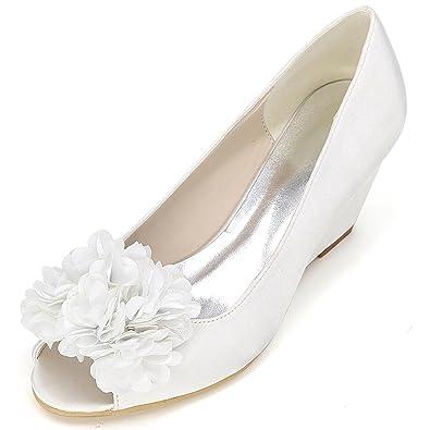 Scarpe Da Sposa Bianche.Elobaby Scarpe Da Sposa Da Donna Y9140 10h Sandalo Da Sera Con