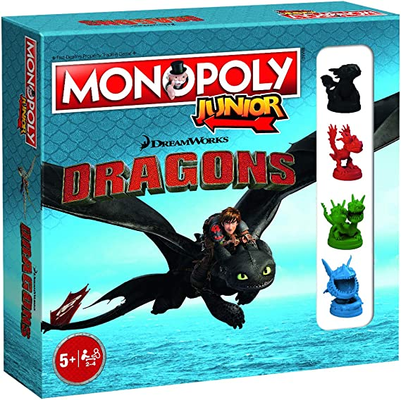Dragons Monopoly Junior How to Train Monopoly Board Game: Amazon.es: Juguetes y juegos