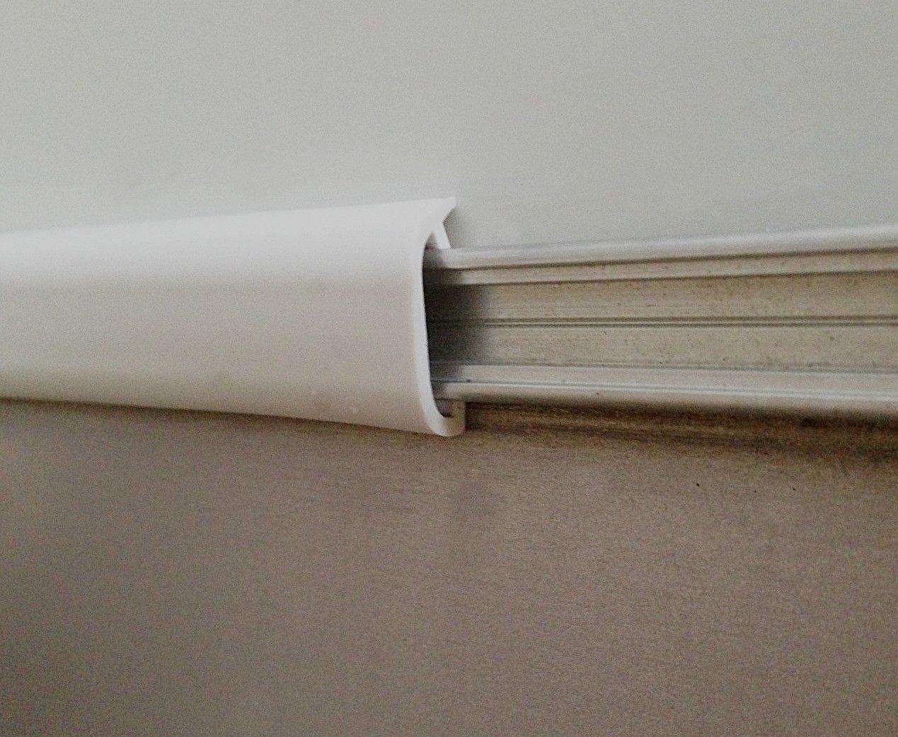 WHITE RV Marine Camper Vinyl 3//4 x 50 Trim Molding Flexible Screw Cap Cover 50 ft, White