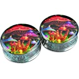 ArcticBuffalo Pair Stainless Steel Ear Plugs Flesh Stretchers Gauges Screw Mushroom House