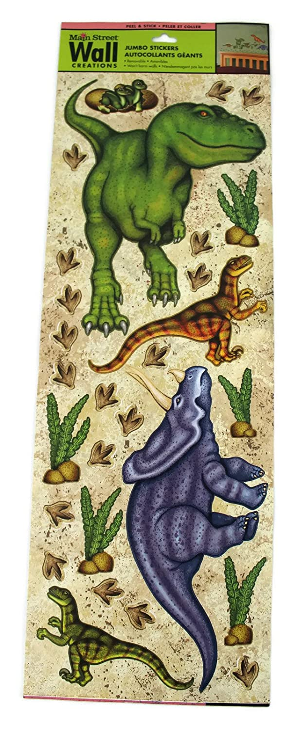 Main Street Wall Creations Jumbo Stickers   Dinosaurs   Wall Decor Stickers    Amazon.com Part 56