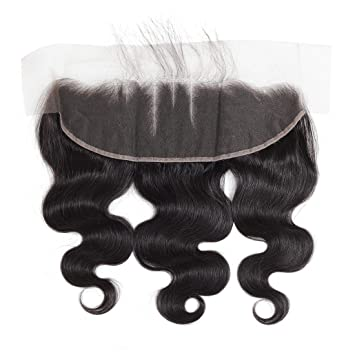 Amazon.com: 13 x 4 Cuerpo ondulado encaje frontal con pelo ...
