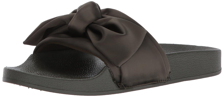 Olive Satin 36.5 EU Steve Madden Wohommes Silky Slide Sandal