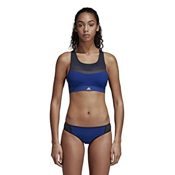 adidas Performance Damen Bikini Oberteil blau 38 / B: Amazon ...
