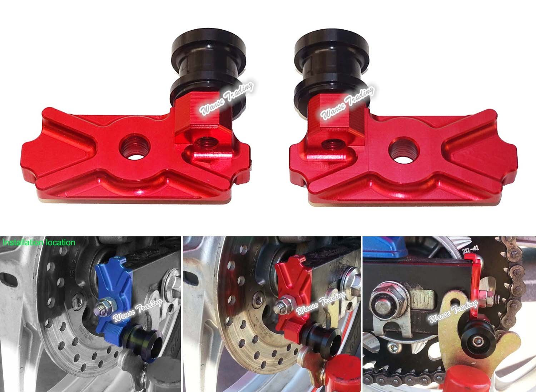 waase Motorcycle CNC Aluminium Swingarm Swing Arm Spool Slider Adapters / Mounts For Honda CBR250R 2011 2012 2013 / CB300F CBR300R 2014 2015 2016 (Black) Does not apply