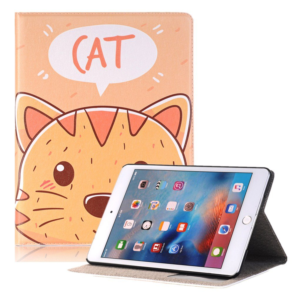 Hulorry iPad Mini 4 Case Cover for Kids, Slim Case with Card Slots Heavy Duty Cover Cute Cartoon Folio Case Screen Protective Case for iPad Mini 4 7.9 inch