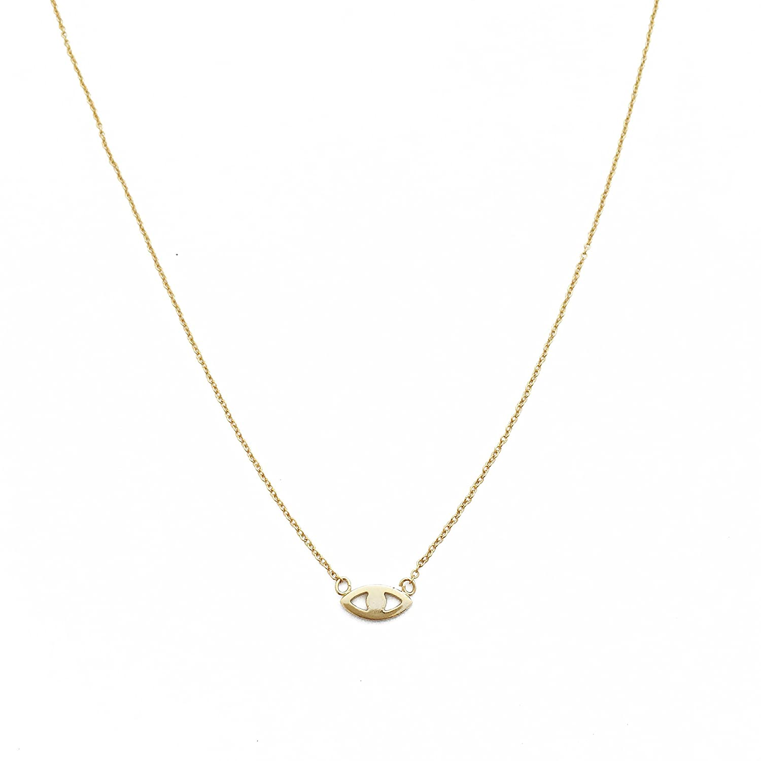 HONEYCAT Evil Eye Necklace in Gold, Rose Gold, or Silver | Minimalist, Delicate Jewelry