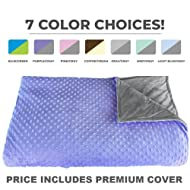 """Premium Weighted Blanket, Perfect Size 60"""" x 80"""" and Weight(12lb) for Adults and Children. Deluxe CALMFORTER Blanket Helps with Anxiety, Stress, Agitation, Insomnia. Price Includes Cover!"""