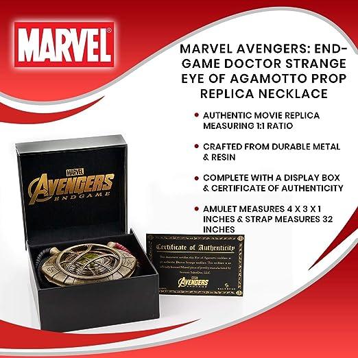 Avengers Marvel Endgame Doctor Strange Eye Of Agamotto Prop Replica Necklace Bekleidung