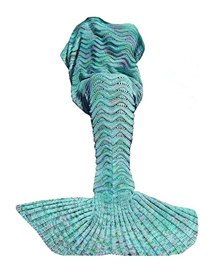 ABC Outlet Mermaid Blanket Knitted Mermaid Sleeping Bag for Bed Sofa Couch 4bef4bcae