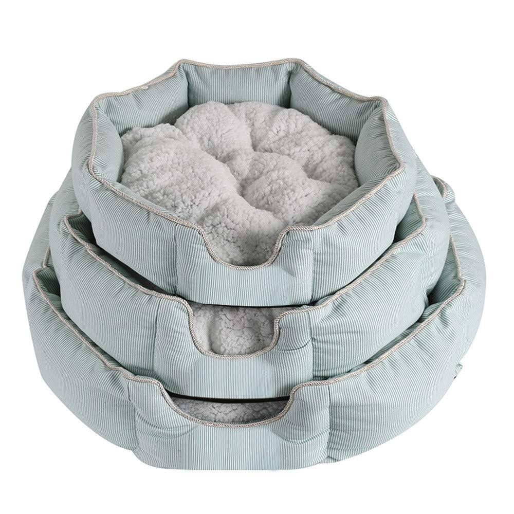 Light bluee 555515 Light bluee 555515 DBolomm Cozy Cuddler Self Warming Cat and Dog Bed Cushion for Joint-Relief and Improved Sleep Washable(Light bluee,555515)