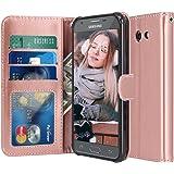 For Samsung Galaxy J3 Emerge / J3 2017 / J3 Prime / J3 Mission / J3 Eclipse / J3 Luna Pro / Sol 2 / Amp Prime 2 / Express Prime 2 Case, LK PU Leather Wallet Flip Protective Case Cover (Rose Gold)