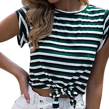 LILICAT® Camiseta corta para niñas adolescentes 2018 Moda sexy de verano de manga corta a