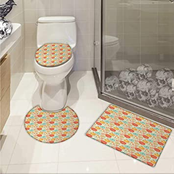 Amazoncom Carl Morris Vintage Bath Mat Set With Toilet Cover