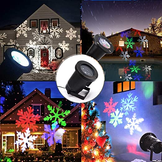 Proyector de luces en forma de copos de nieve, de led, iluminación ...