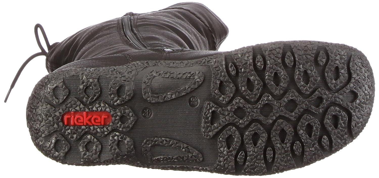 bd09b3ff516e Rieker Women s 79963 Warm lined classic boots long length Black Size  8   Amazon.co.uk  Shoes   Bags